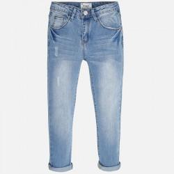 Mayoral 6521-11 Spodnie jeansowe szarpane