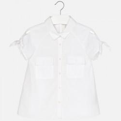 Mayoral 6155-47 Bluzka z krótkim rękawem zawiązywana dla dziewczynki