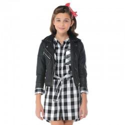 Mayoral 6943-37 Sukienka koszulowa w kratę dla dziewczynki