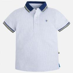 Mayoral 3107-02 Żakardowa gładka koszulka polo z krótkim rękawem dla chłopca