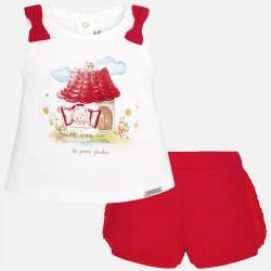 Mayoral 1276-82 Krótkie spodenki i koszulka bez rękawów baby dziewczynka