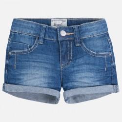 Mayoral 236-51Jeansowe szorty z wywiniętą nogawką dla dziewczynki