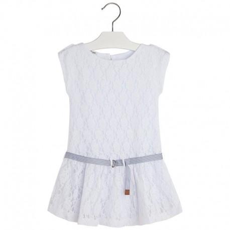Sukienka biała Mayoral 3982 kolor 093