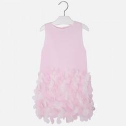 Mayoral 3945-85 Sukienka bez rękawów z płatkami dla dziewczynki