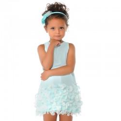 Mayoral 3945-84 Sukienka bez rękawów z płatkami dla dziewczynki