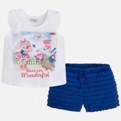 Mayoral 3297-64 Szorty na gumce i koszulka bez rękawów dla dziewczynki