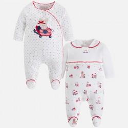 Mayoral 2741-50 Zestaw dwóch piżamek dla dziewczynki z dzianiny interlock