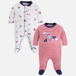 Mayoral 2723-56 Zestaw dwóch chłopięcych piżamek z dzianiny interlockowej