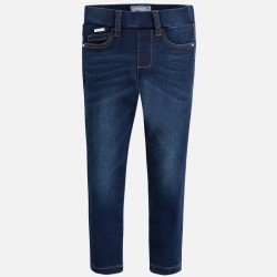 Mayoral jegginsy 72-44 Spodnie Legingsy basic w stylu jeans dla dziewczynki