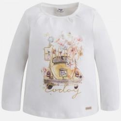 Mayoral bluzka 4049-68 dla dziewczynki z długim rękawem z nadrukiem