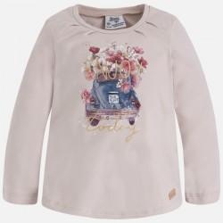 Mayoral bluzka 4049-70 dla dziewczynki z długim rękawem z nadrukiem