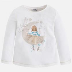 Mayoral bluzka 4059-89 księżyc dla dziewczynki z długim rękawem z brokatem