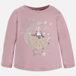 Mayoral bluzka 4059-90 księżyc dla dziewczynki z długim rękawem z brokatem