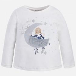 Mayoral bluzka 4059-92 księżyc dla dziewczynki z długim rękawem z brokatem