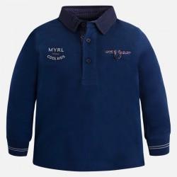 Mayoral bluzka polo 4109-52 dla chłopca z długim rękawem z haftowaną aplikacją