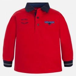 Mayoral bluzka polo 4109-53 dla chłopca z długim rękawem z haftowaną aplikacją
