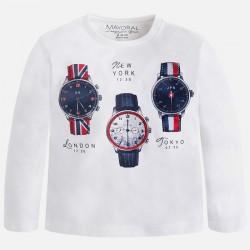 Mayoral bluzka 4005-14 zegarki dla chłopca z długim rękawem