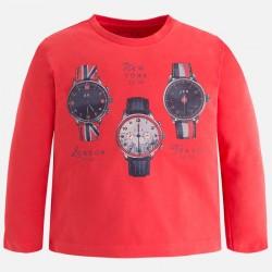 Mayoral bluzka 4005-16 zegarki dla chłopca z długim rękawem