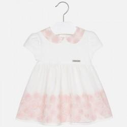 Mayoral sukienka 2917-16 tiulowa z haftem z krótkim rękawem