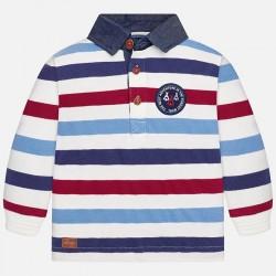 Mayoral bluzka 2125-43 koszulka polo w paski z długim rękawem