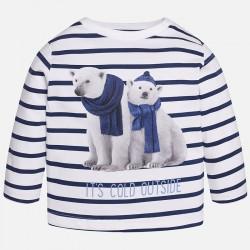 Mayoral bluzka 2019-26 Koszulka w paski z długim rękawem dla chłopca