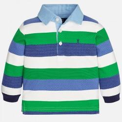 Mayoral bluzka 2113-51 Chłopięca koszulka polo z długim rękawem z dzianiny żakardowej