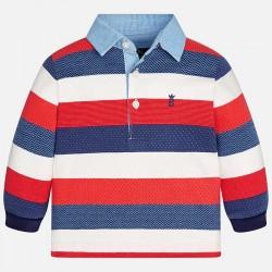 Mayoral bluzka 2113-52 Chłopięca koszulka polo z długim rękawem z dzianiny żakardowej