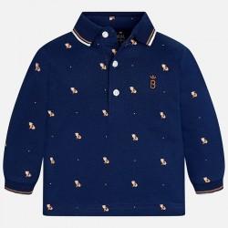 Mayoral bluzka 2119-45 Chłopięca koszulka polo z długim rękawem