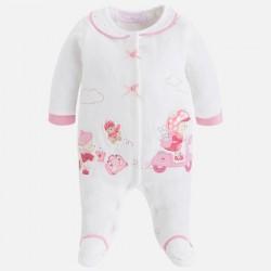 Mayoral 2743-51 Ciepła piżama z dzianiny welurowej dla dziewczynki