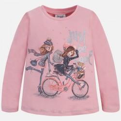 Mayoral bluzka 4043-12 z długim rękawem dla dziewczynki