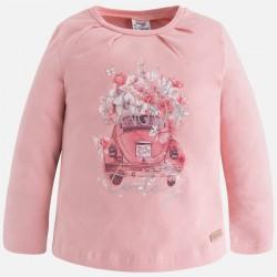 Mayoral bluzka 4049-69 dla dziewczynki z długim rękawem z nadrukiem