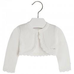 Biały sweterek Mayoral 1303 kolor 039