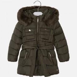 Mayoral kurtka 4475-95 ocieplana dla dziewczynki z paskiem