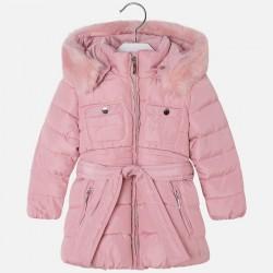Mayoral kurtka 4475-94 ocieplana dla dziewczynki z paskiem