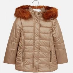 Mayoral kurtka 7489-91 dla dziewczynki ocieplana z futerkiem i haftem