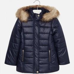 Mayoral kurtka 7489-92 dla dziewczynki ocieplana z futerkiem i haftem