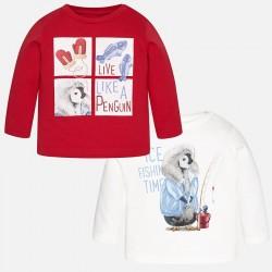 Mayoral bluzki 2023-71 dwie chłopięce koszulki z długim rękawem