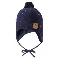 Reima czapka Wełniana Ylläs 518430 kolor 6980 GRANATOWA