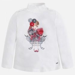 Mayoral bluzka 4003-35 Koszulka z długim rękawem dla dziewczynki typu półgolf