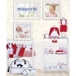 Mayoral nowa kolekcja wiosna lato 2018 zestaw chłopięcy i dziewczęcy POPPY RED NEWBORN r50-80