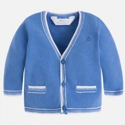 Mayoral sweterek 1306-91 Kardigan dla chłopca z dekoltem w serek