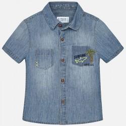 Mayoral Koszula 1158-05 jeansowa dla chłopca baby z krótkim rękawem