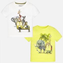 Mayoral komplet 1060-43 Zestaw 2 koszulek z krótkim rękawem dla chłopca