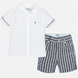 Mayoral Komplet 1295-92 dla chłopca z koszulą i bermudami