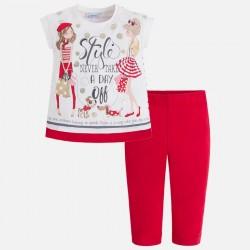 Mayoral komplet 3516-16 z piratkami oraz koszulką dla dziewczynki