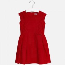 Mayoral Sukienka 6944-29 z zakładkami kolor czerwony