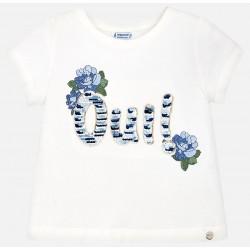 Mayoral Bluzka 6046-10 Koszulka z krótkim rękawem z cekinami