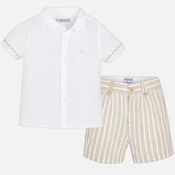 Mayoral Komplet 1295-91 dla chłopca z koszulą i bermudami