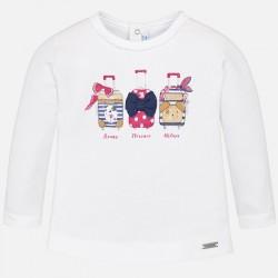 Mayoral bluzka 1034-87 Koszulka z długim rękawem dla dziewczynki baby