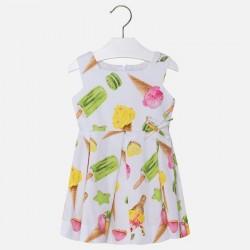 Mayoral Sukienka 3930-49 z satyny dla dziewczynki